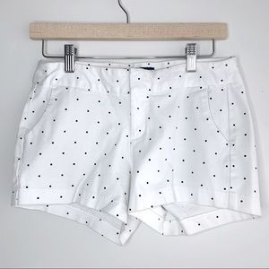 White Old Navy Dress Shorts with Polka Dots, 4
